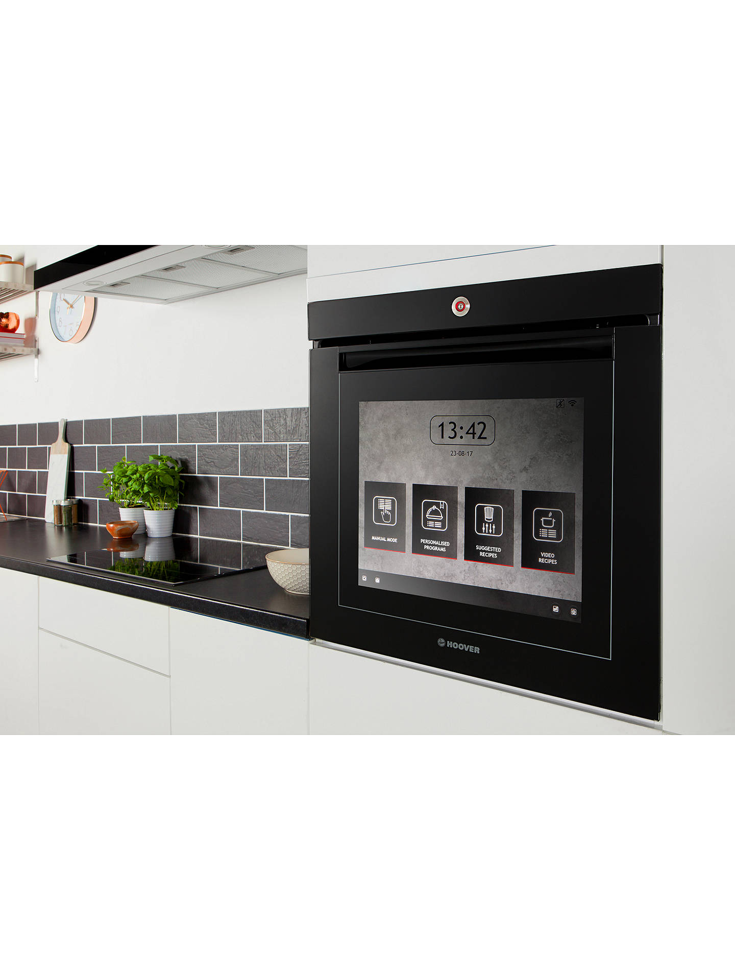 Buy Hoover Vision Built-In Single Oven, Black Glass Online at johnlewis.com