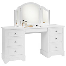 Buy John Lewis St Ives Dressing Table and Mirror, White Online at johnlewis.com
