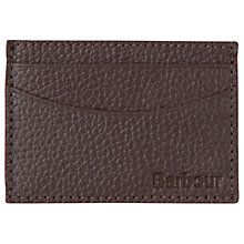 Buy Barbour Grain Leather Card Holder, Brown Online at johnlewis.com