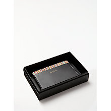 Buy Paul Smith Classic Stripe Card Holder, Black Online at johnlewis.com