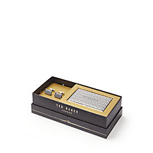 Buy Ted Baker Ebor Cufflink and Card Holder Gift Set, Grey Online at johnlewis.com