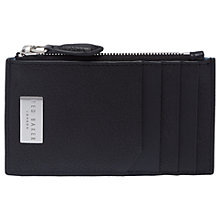 Buy Ted Baker Snapps Zip Card Holder, Black Online at johnlewis.com
