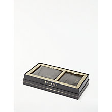 Buy Ted Baker Twixxle Wallet and Card Holder Gift Set, Chocolate Online at johnlewis.com
