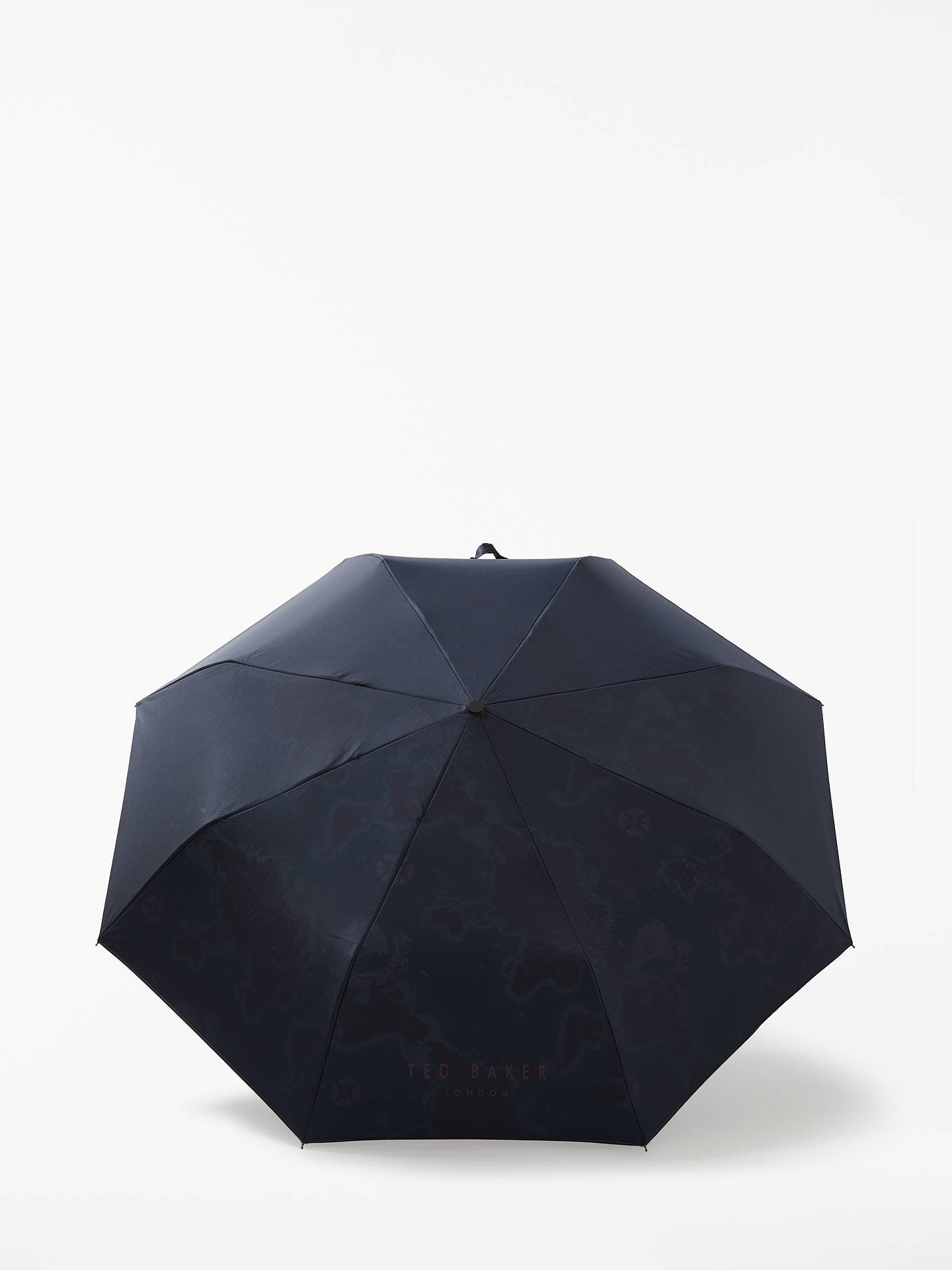 BuyTed Baker Geog Printed Compact Umbrella, Navy Online at johnlewis.com