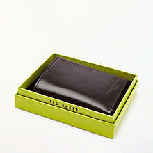 Buy Ted Baker Pennies Tri-Fold Suede Inside Wallet, Chocolate Online at johnlewis.com