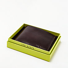 Buy Ted Baker Moola Bi-Fold Suede Inside Wallet, Chocolate Online at johnlewis.com