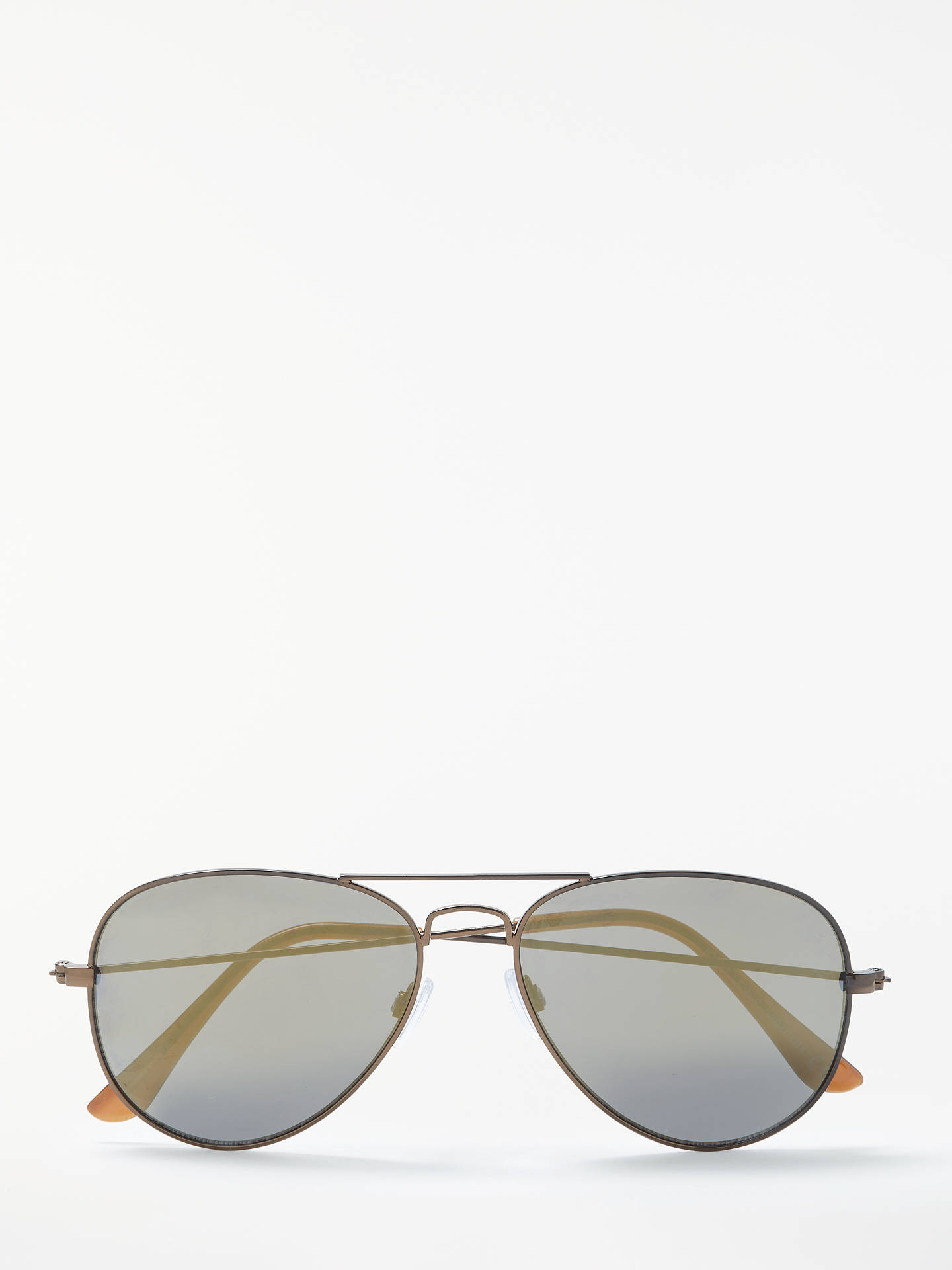 Buy John Lewis & Partners Classic Aviator Sunglasses, Metallic Brown Online at johnlewis.com