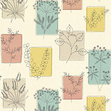 Buy Little Greene Paint Co. Herbes Wallpaper, 0272HRCOCKT Online at johnlewis.com