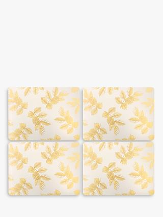 Sara Miller Etched Leaves Placemats, Set of 4, Grey