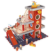 Buy Janod Wooden Fire Station Online at johnlewis.com