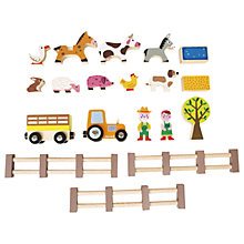 Buy Janod Wooden Happy Farm Online at johnlewis.com