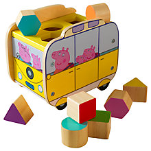 Buy Peppa Pig Campervan Wooden Shape Sorter Online at johnlewis.com