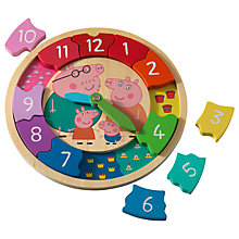 Buy Peppa Pig Wooden Clock Online at johnlewis.com