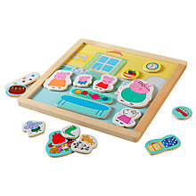Buy Peppa Pig Double-Sided Magnetic Wooden Play Set Online at johnlewis.com