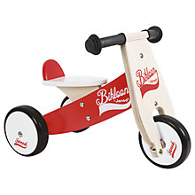 Buy Janod Little Bikloon Wooden Ride-On Online at johnlewis.com