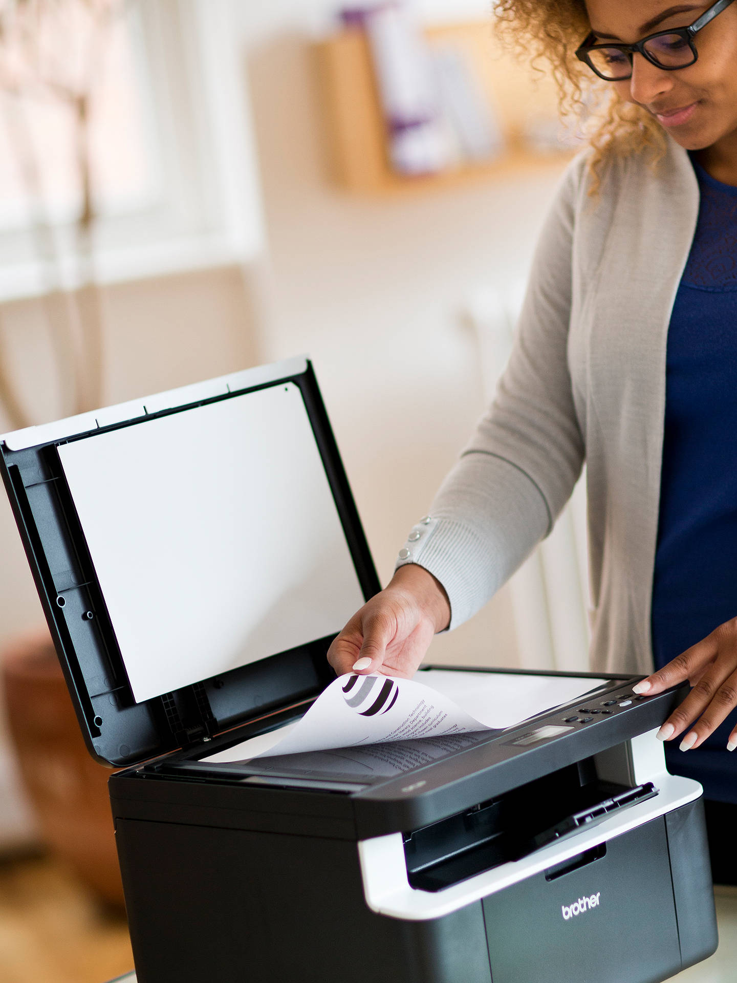 BuyBrother DCP-1612W Wireless All-In-One Mono Laser Printer with 5 Toners, Black Online at johnlewis.com