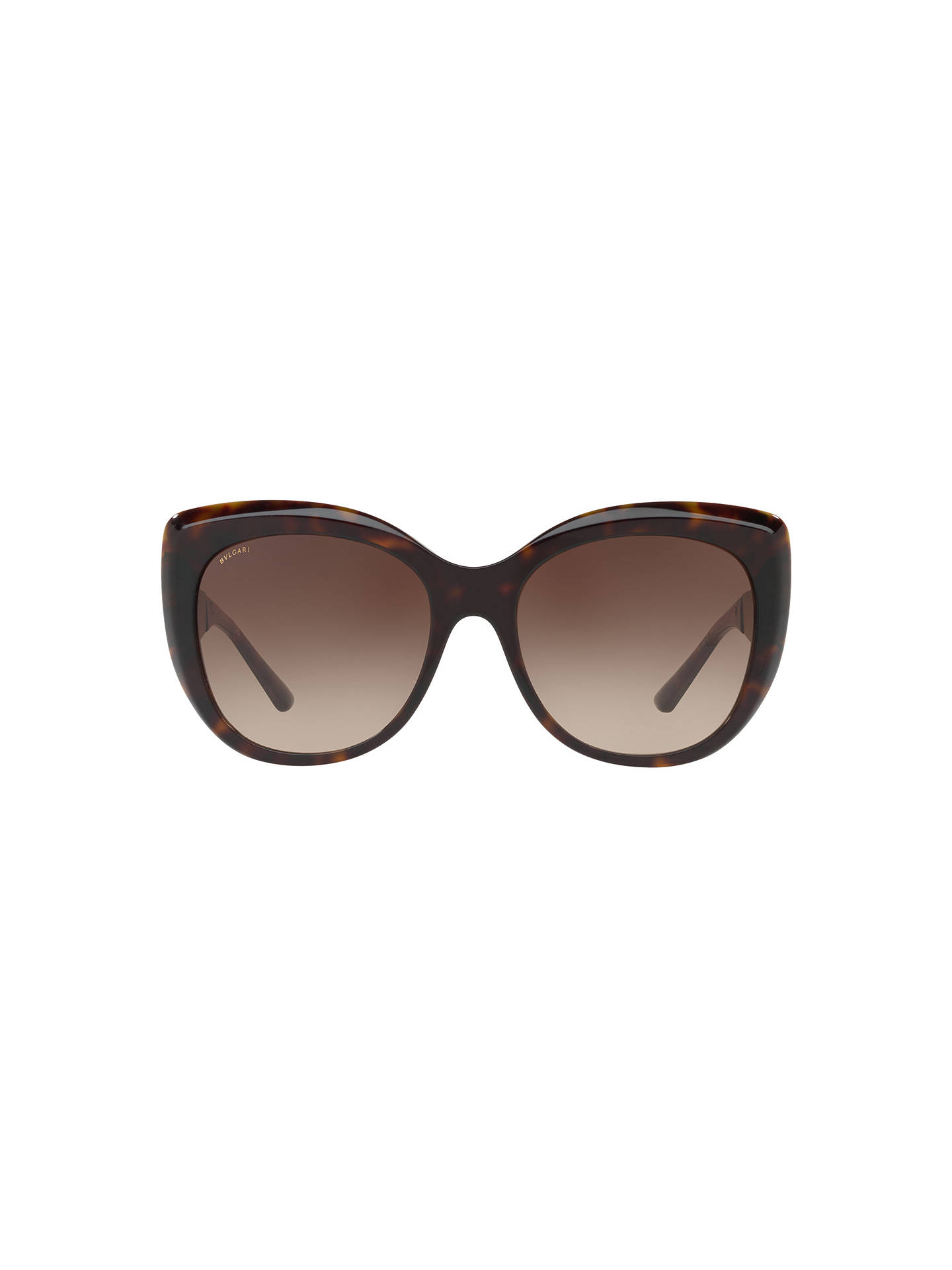 Buy BVLGARI BV8198B Chunky Cat's Eye Sunglasses, Tortoise/Brown Gradient Online at johnlewis.com