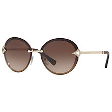 Buy Bvlgari BV6101B Oval Sunglasses Online at johnlewis.com