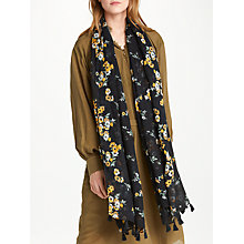 Buy AND/OR Nevada Floral Tassel Scarf, Black Mix Online at johnlewis.com