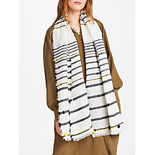 Buy AND/OR Textured Bobble Stripe Scarf, White/Multi Online at johnlewis.com