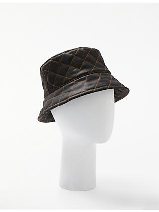 447fe278e33 John Lewis   Partners Quilted Waxed Bucket Hat