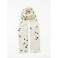 Buy John Lewis Busy Bee Cotton Twill Scarf, Cream Mix Online at johnlewis.com