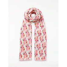 Buy John Lewis Painted Parakeet Cotton Twill Scarf, Pink Mix Online at johnlewis.com