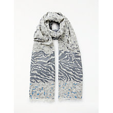 Buy John Lewis Animal Print Jacquard Scarf, Blue Mix Online at johnlewis.com
