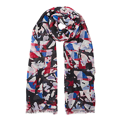 Kin by John Lewis Camo Abstract Print Scarf, Multi