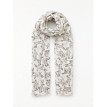 Buy John Lewis Yoga Dog Print Cotton Twill Scarf, Taupe Mix Online at johnlewis.com