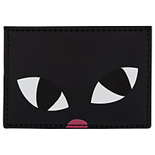 Buy Lulu Guinness Kooky Cat Cardholder, Black Online at johnlewis.com