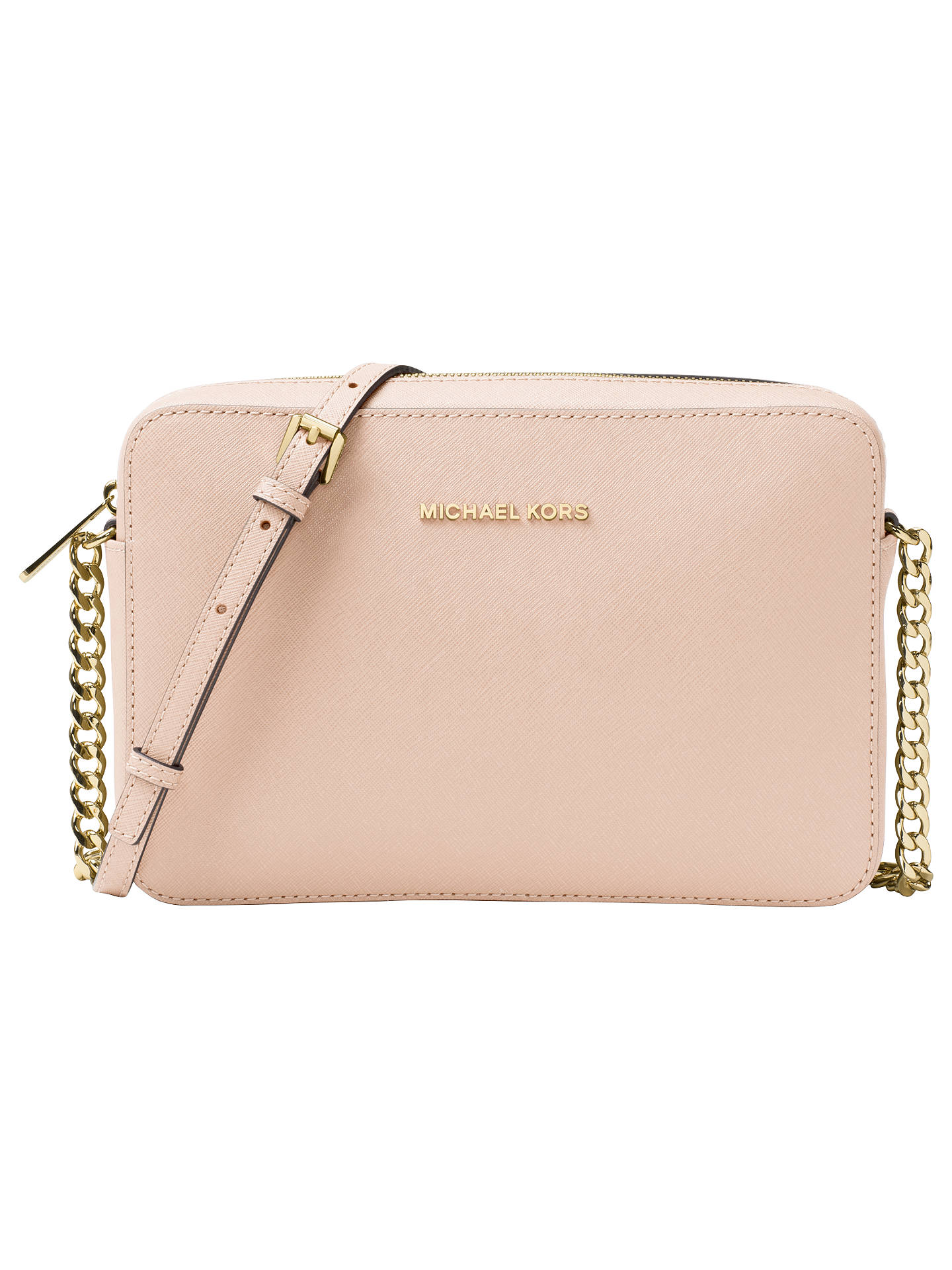 f166c10695bb Buy MICHAEL Michael Kors Jet Set Travel Leather East / West Cross Body Bag,  Soft ...