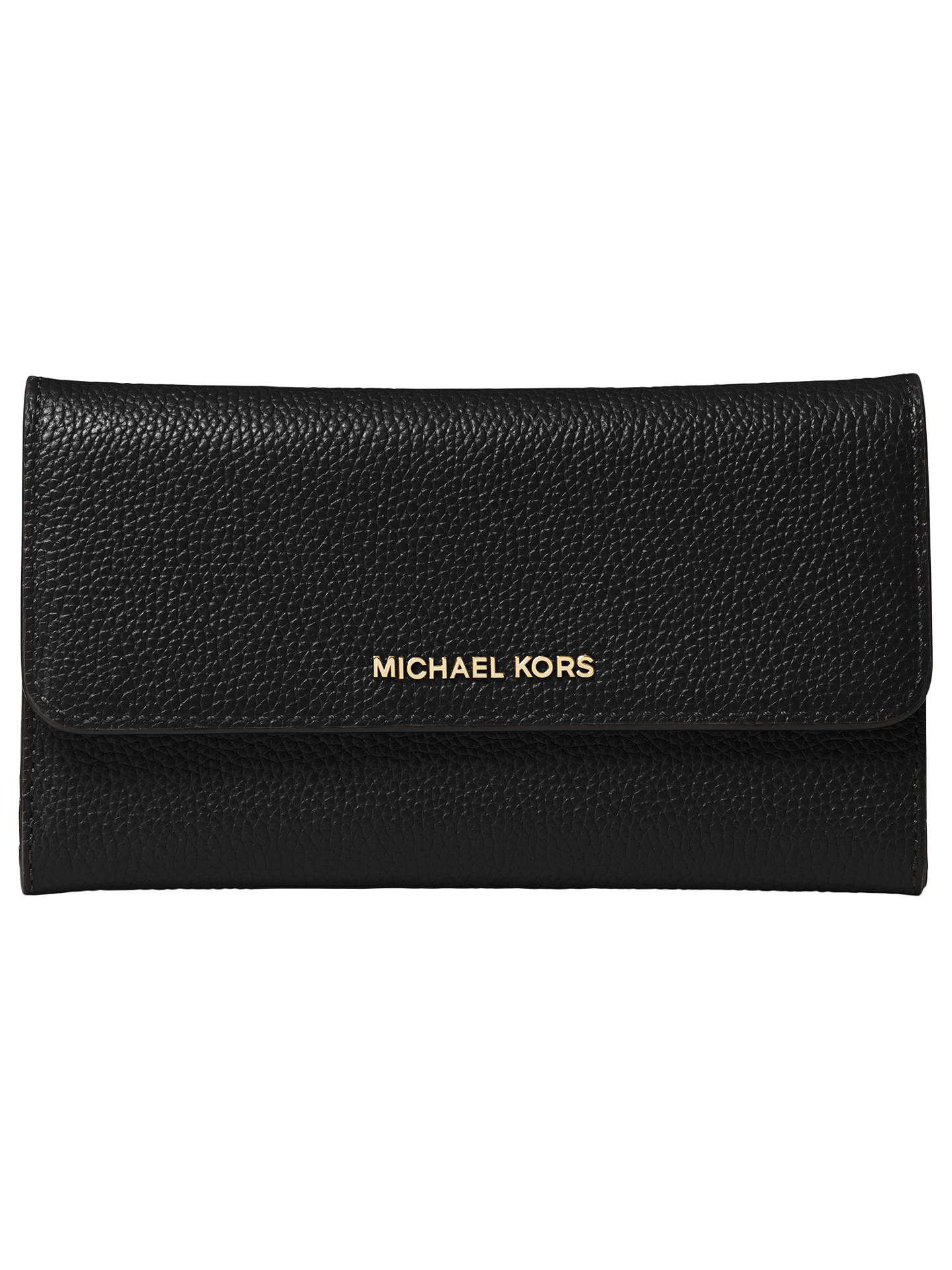 f13c01452665 Buy MICHAEL Michael Kors Mercer Leather Large Trifold Purse, Black Online  at johnlewis.com ...