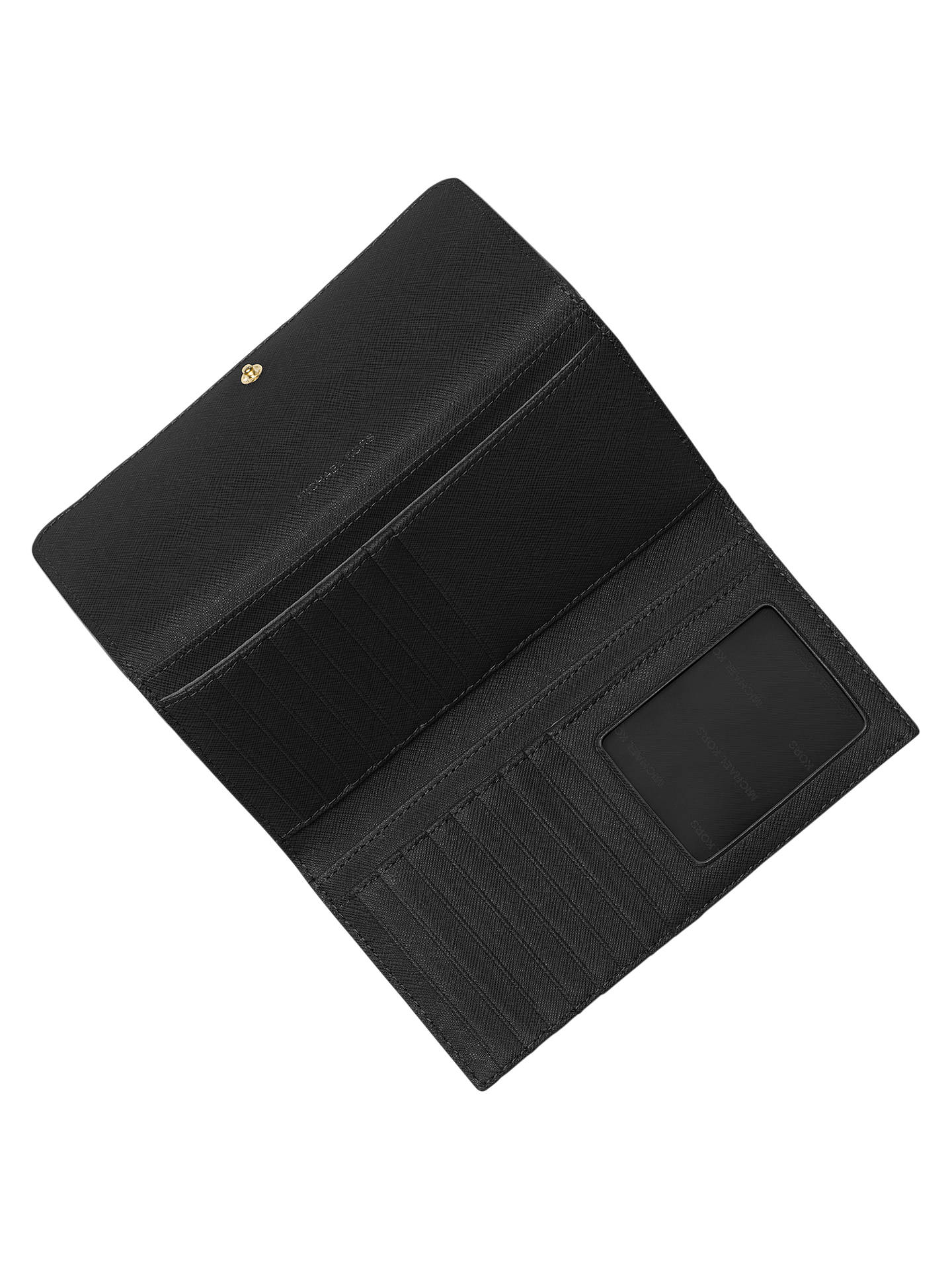 2efc4a4236da ... Buy MICHAEL Michael Kors Mercer Leather Large Trifold Purse, Black  Online at johnlewis.com ...