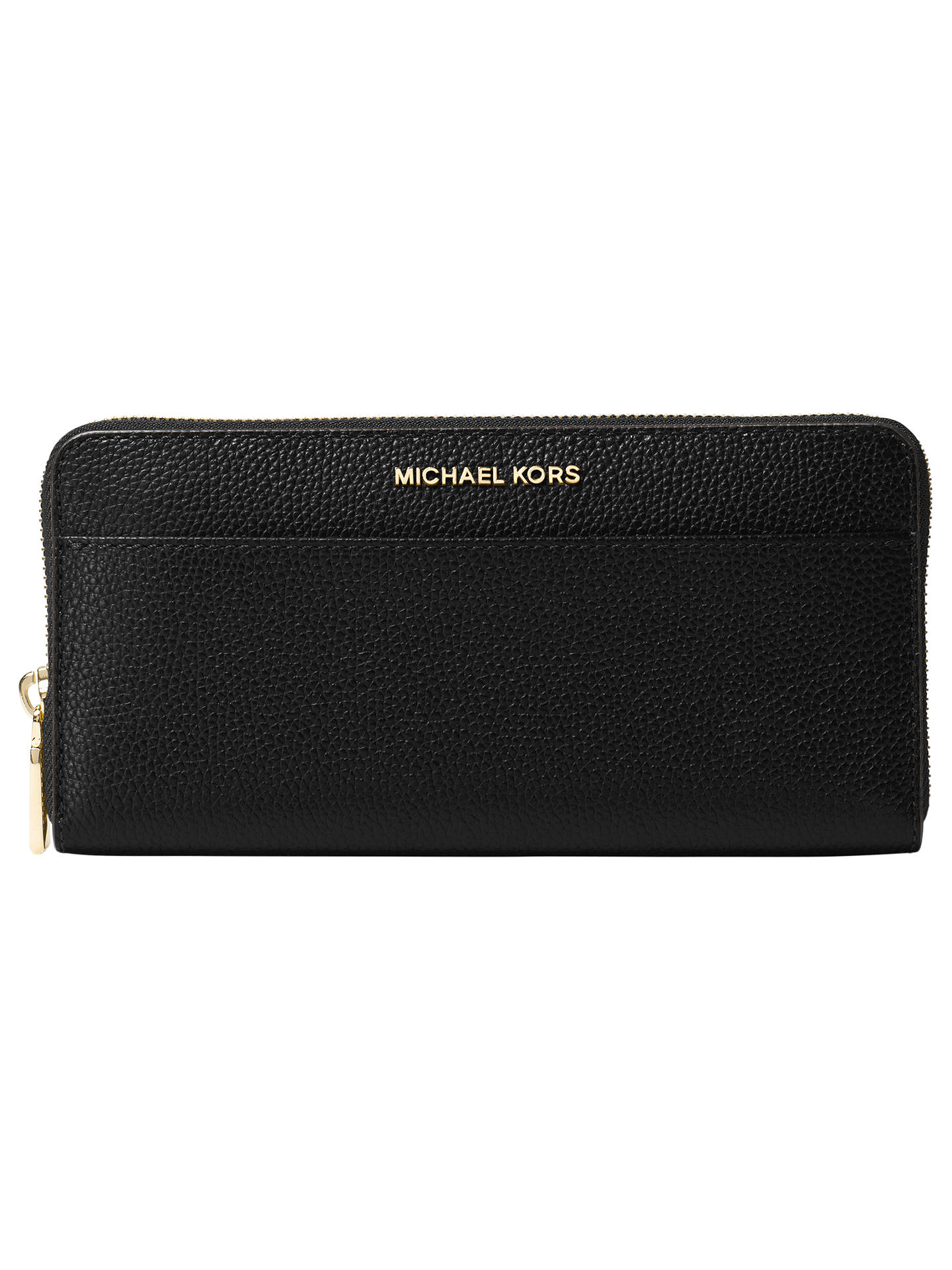 d69c1efde59f Buy MICHAEL Michael Kors Mercer Leather Continental Purse, Black Online at  johnlewis.com ...