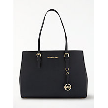 Buy MICHAEL Michael Kors Jet Set East/West Large Leather Tote Bag, Admiral Online at johnlewis.com