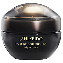 Buy Shiseido Future Solution LX Total Regenerating Night Cream Cream, 50ml Online at johnlewis.com
