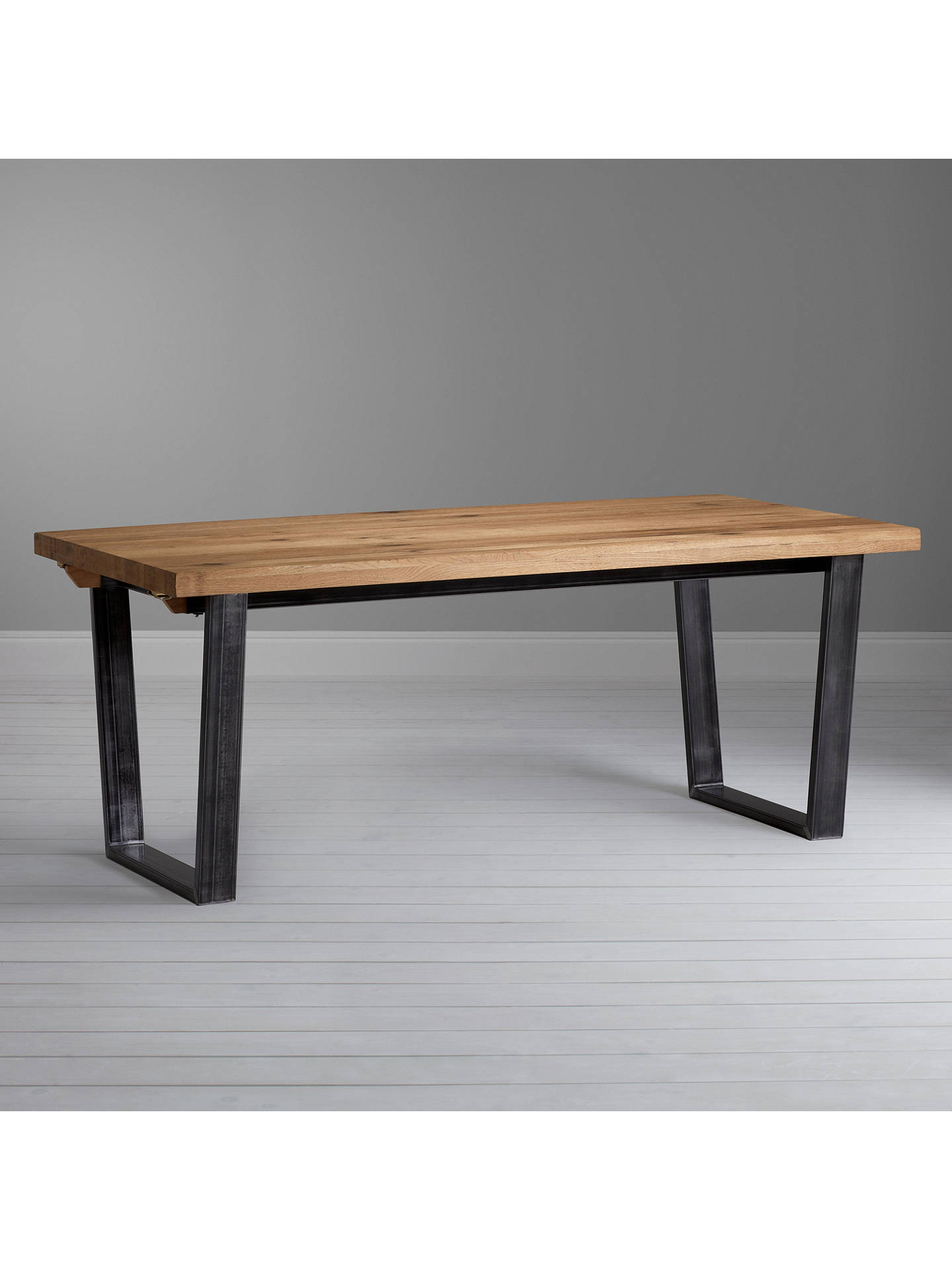 John Lewis Partners Calia 8 12 Seater Extending Dining Table Oak Online
