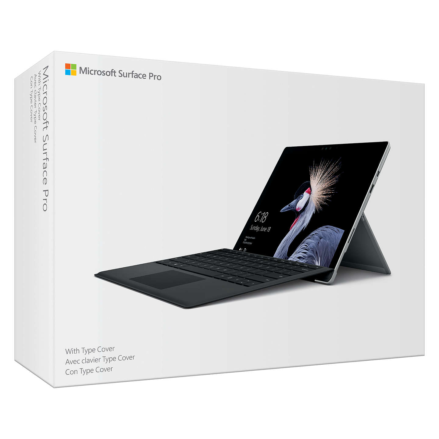"BuyMicrosoft Surface Pro Tablet, Intel Core i5, 4GB RAM, 128GB SSD, 12.3"" Touchscreen, Silver and Microsoft Surface Pro Type Cover, Black, Bundle Online at johnlewis.com"