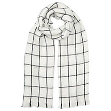 Buy Miss Selfridge Check Scarf, Cream Online at johnlewis.com