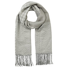 Buy Miss Selfridge Patchwork Scarf, Grey Online at johnlewis.com