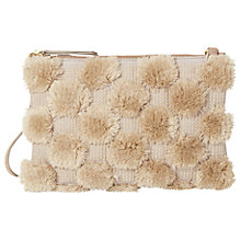 Buy White Stuff Cammy Pom Pouch Cross Body Bag, Fawn Online at johnlewis.com