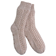 Buy Hygge by Mint Velvet Metallic Slipper Sock, Nude, One Size Online at johnlewis.com