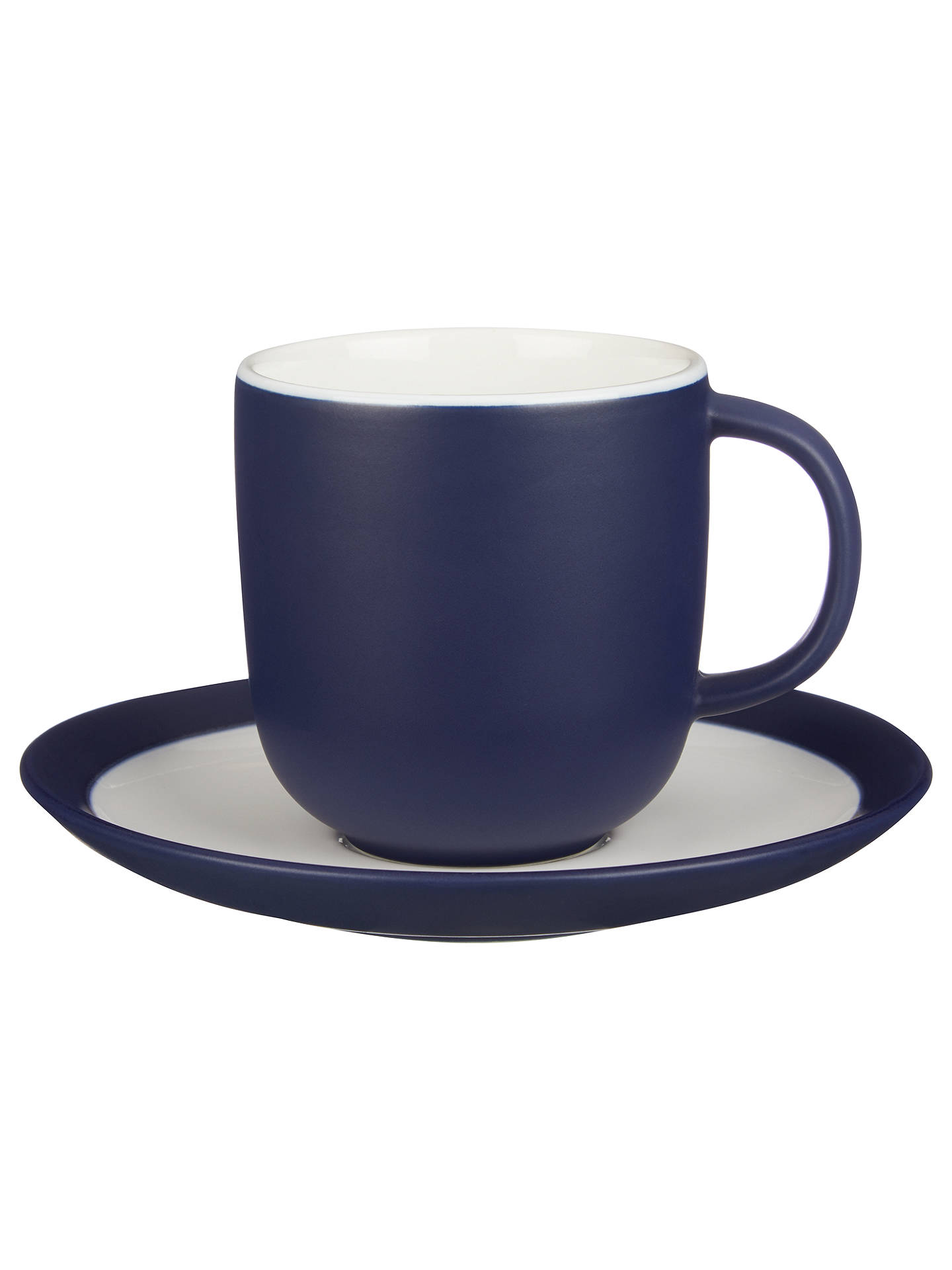 Buy John Lewis & Partners Puritan Cup and Saucer, 240ml, Midnight Blue Online at johnlewis.com