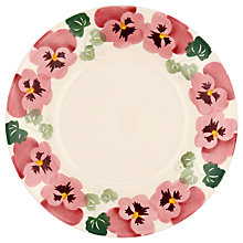 "Buy Emma Bridgewater Pink Pansy 8.5"" Plate, White/Pink, Dia.22.1cm Online at johnlewis.com"