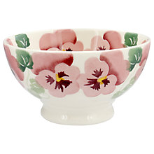 Buy Emma Bridgewater Pink Pansy French Bowl, White/Pink, Dia.13.9cm Online at johnlewis.com