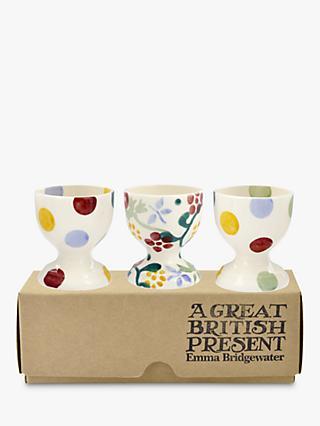 Emma Bridgewater Spring Fl Egg Cups White Multi Set Of 3