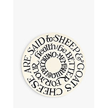 "Buy Emma Bridgewater Black Toast Sheep & Goats Cheese 6.5"" Plate, White/Black, Dia.16.7cm Online at johnlewis.com"