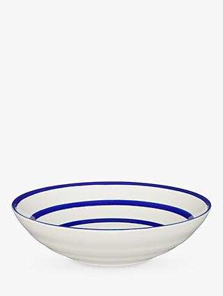 John Lewis & Partners Harbour Serving Bowl, White/Blue, Dia.30cm