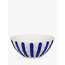 Buy John Lewis Harbour Striped Bowl, White/Blue, Dia.16cm Online at johnlewis.com